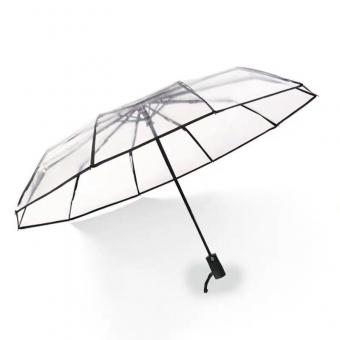 Compact Folding Transparent Clear Umbrella